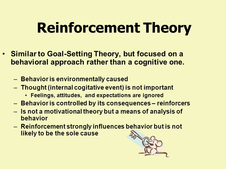 Reinforcement Theory Consequences Rewards No Rewards Punishment Behavior