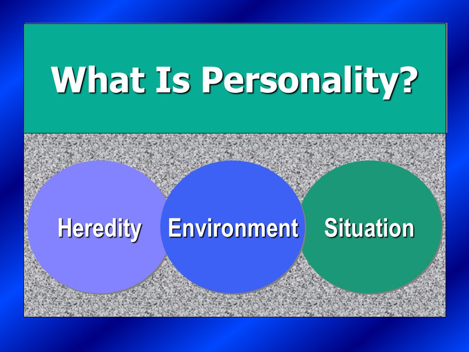 What is Personality? E X H I B I T 4-1