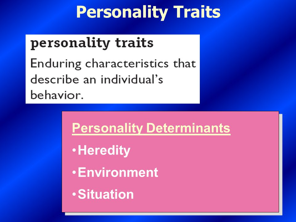 What Is Personality HeredityHereditySituationSituationEnvironmentEnvironment