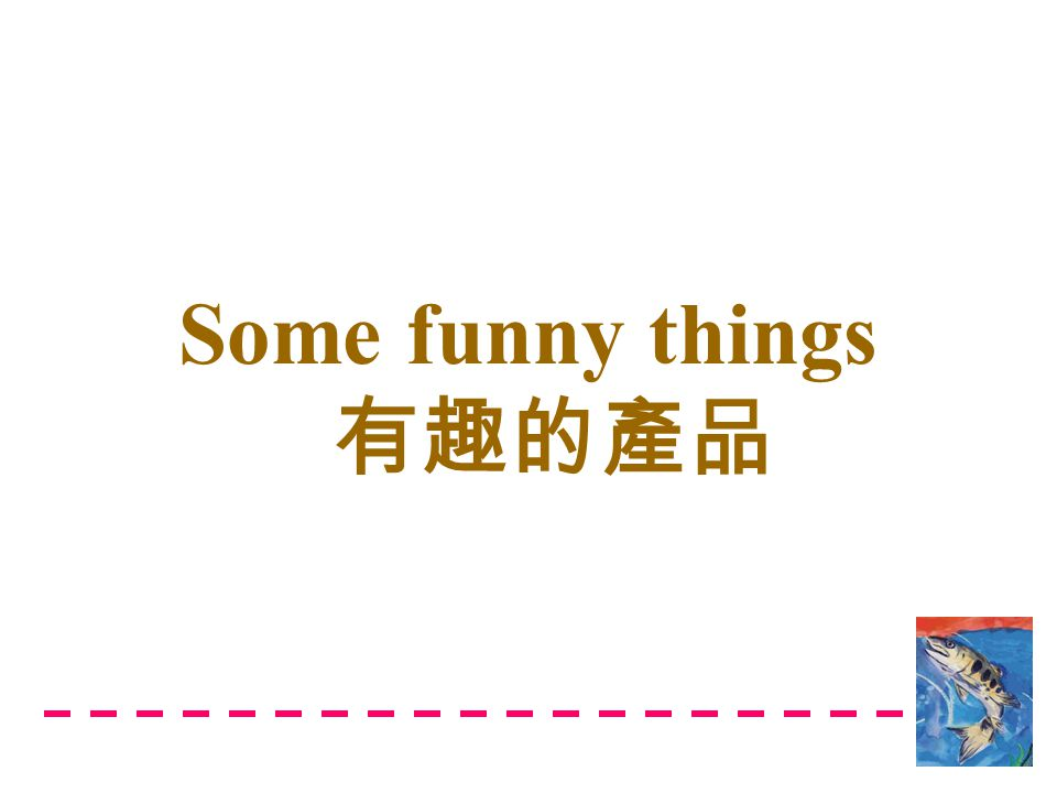 Some funny things 有趣的產品