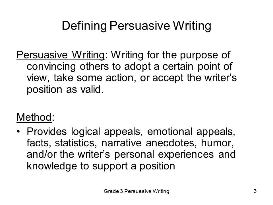 Grade 3 Persuasive Writing44 Persuasive Practice Paper 2