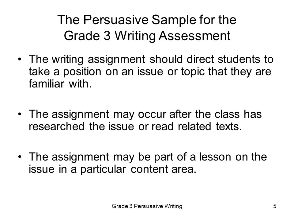 Grade 3 Persuasive Writing6 Persuasive Rubrics