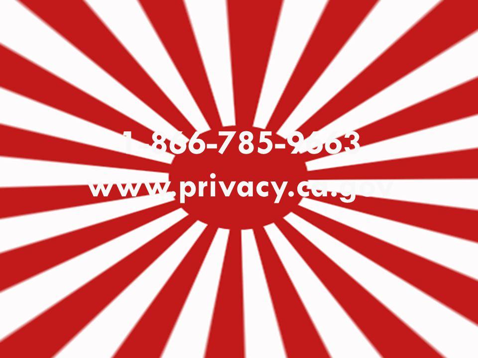 28 1-866-785-9663 www.privacy.ca.gov