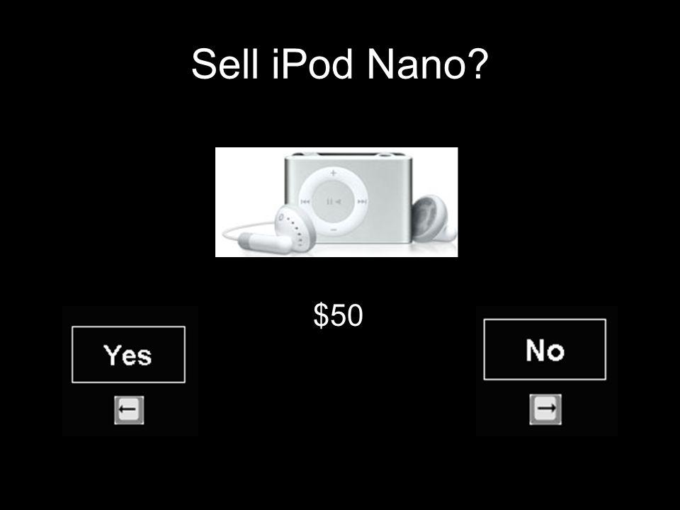 Sell iPod Nano $50