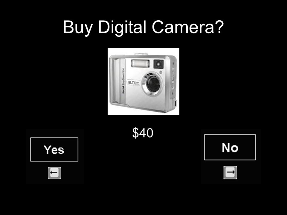 Buy Digital Camera $40