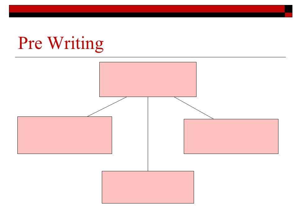 Pre Writing