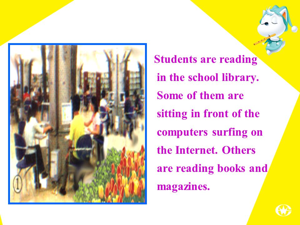 Students are reading in the school library.