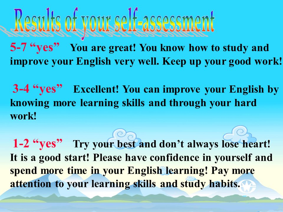 5-7 yes You are great.You know how to study and improve your English very well.