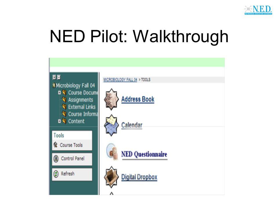 NED Pilot: Walkthrough