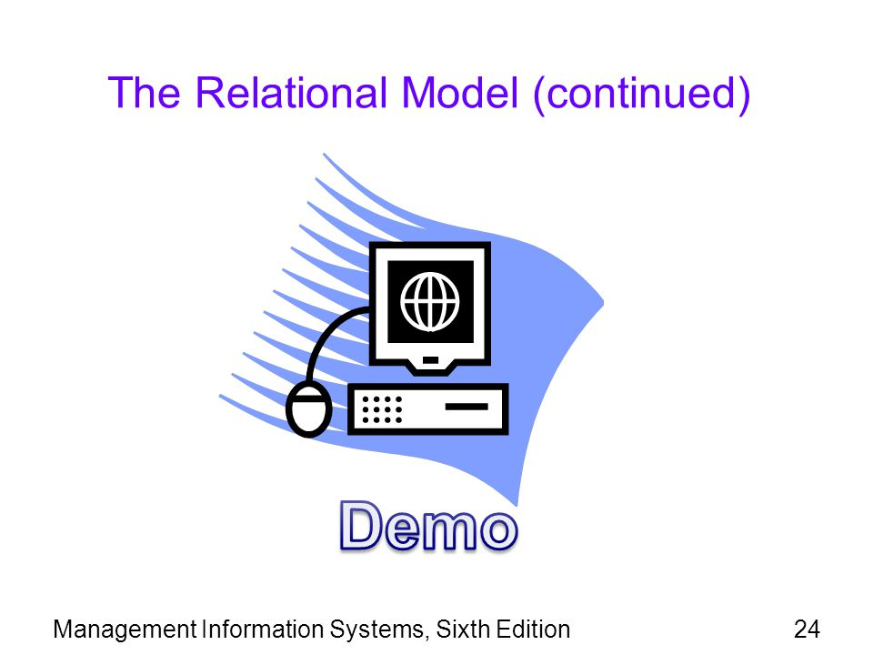 Management Information Systems, Sixth Edition24 The Relational Model (continued)