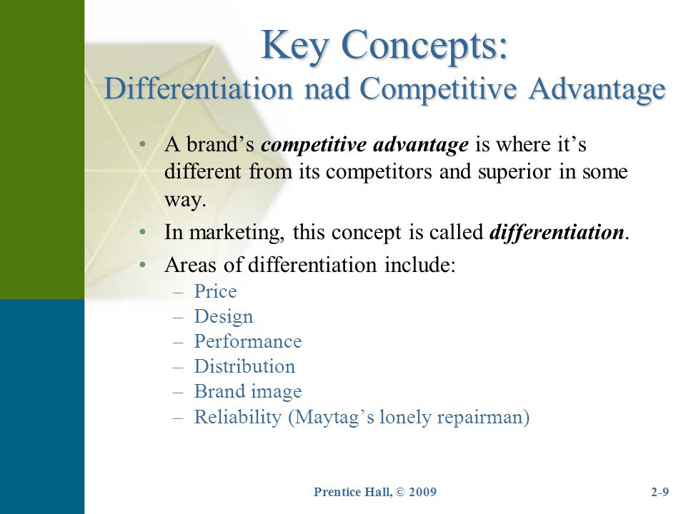 Prentice Hall, © 20092-20 The Marketing Mix