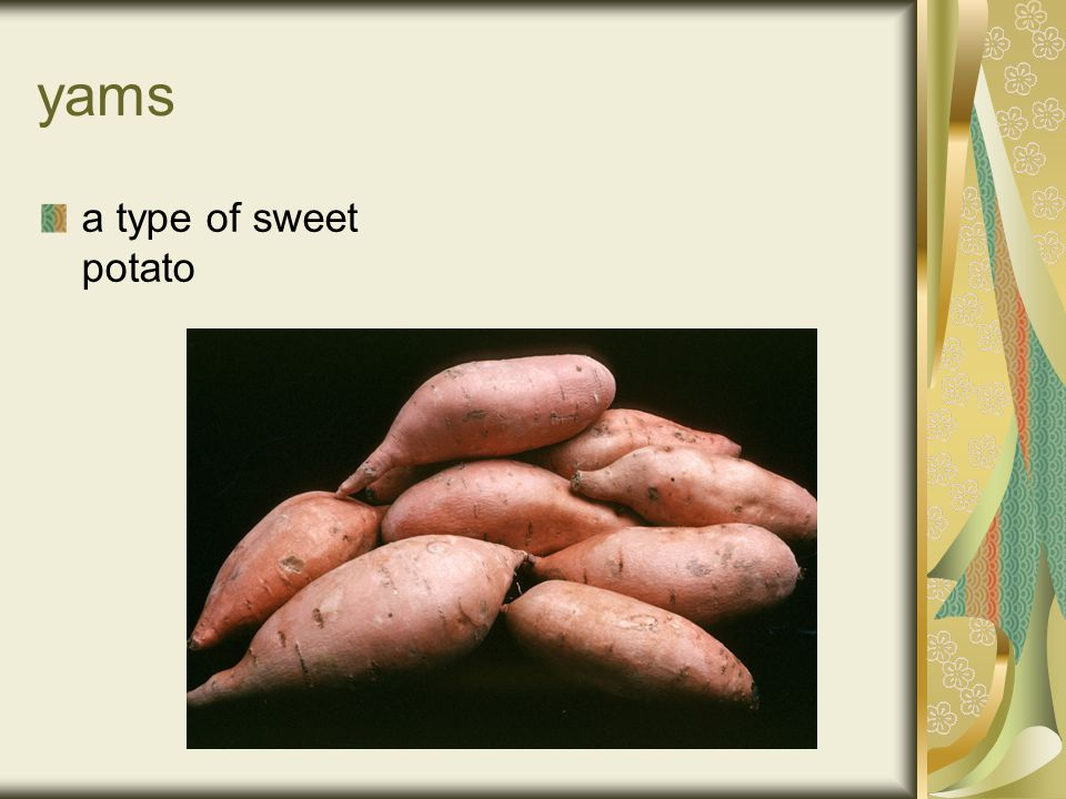 yams a type of sweet potato