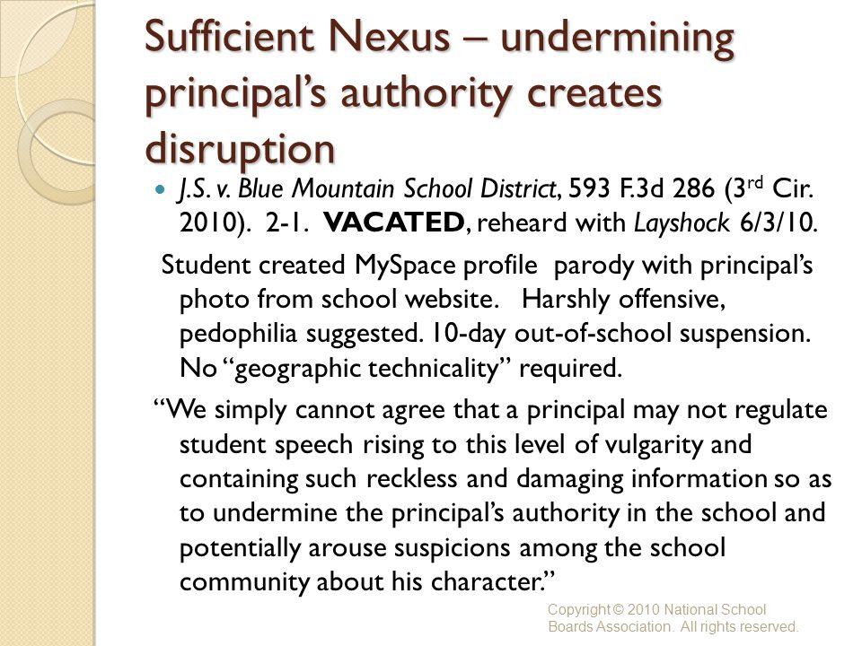 Sufficient Nexus – undermining principal's authority creates disruption J.S.