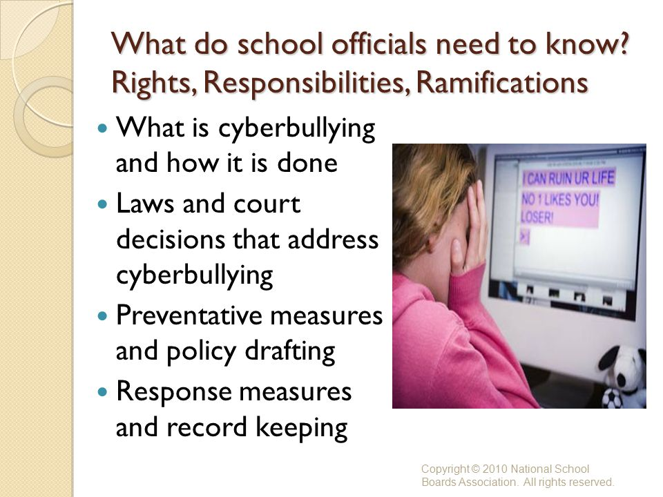 What do school officials need to know.