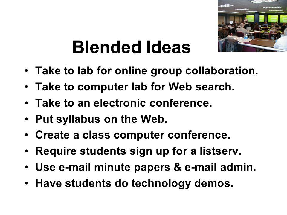 Blended Learning.