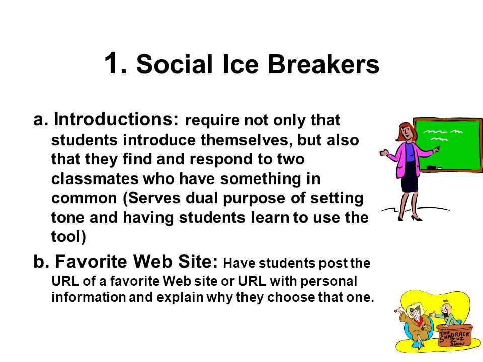 1.Social Ice Breakers c. Eight Nouns Activity: 1.