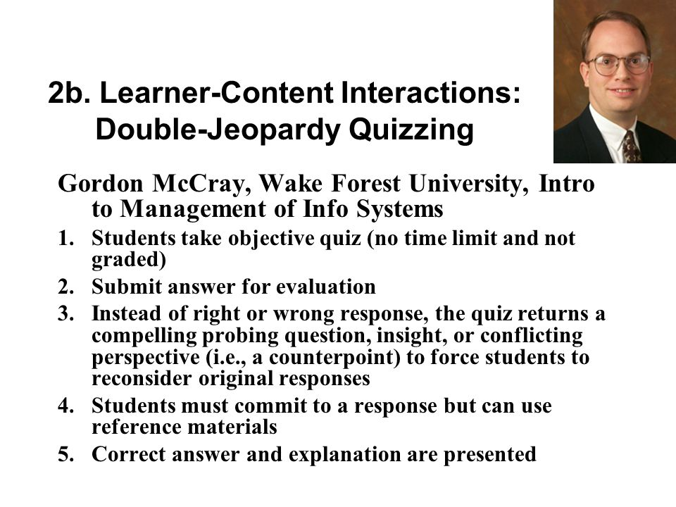 Guidelines and Feedback Qualitative discussion guidelines and feedback helped students know what their participation should look like Quantitative discussion guidelines and feedback comforted students and was readily understood by them Feedback of both varieties was needed at regular intervals, although the qualitative feedback need not be individualized