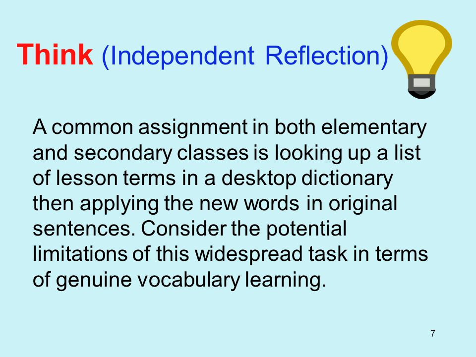 48 Vocabulary Notebook Entry: Academic Word Family