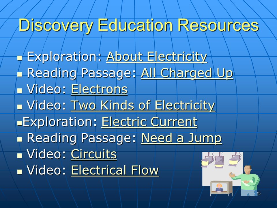 Discovery Education Resources Exploration: About Electricity Exploration: About ElectricityAbout ElectricityAbout Electricity Reading Passage: All Cha
