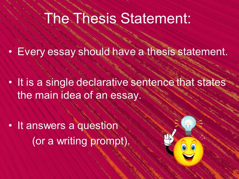 Basic Thesis Statement Examples Writing prompt: What is your favorite time of year.