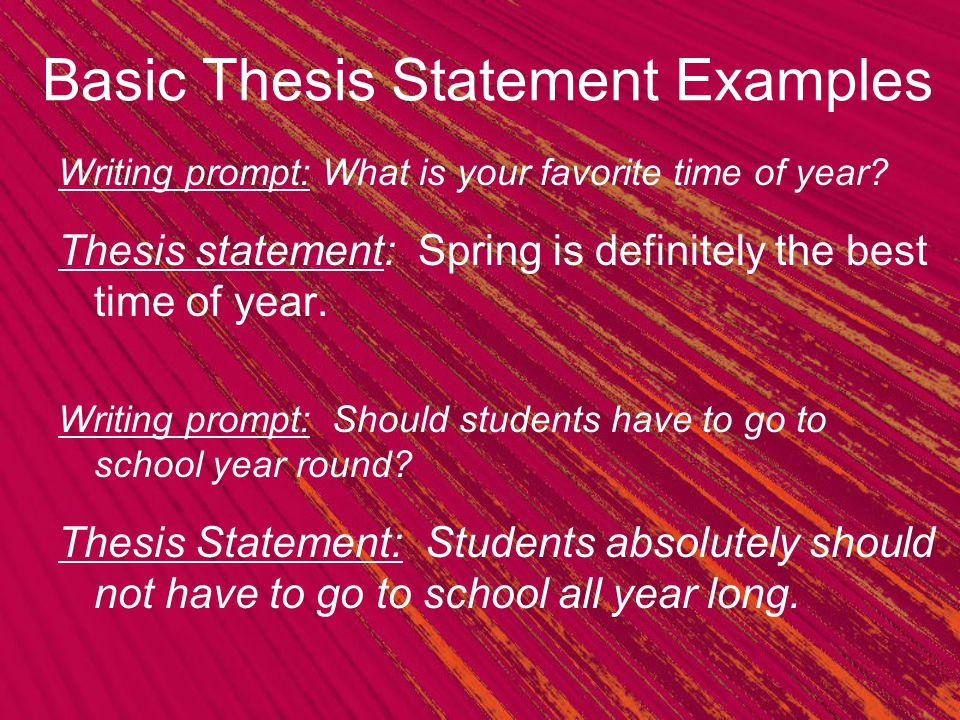 How to Write a Thesis Statement  Fill in the Blank Formula SlidePlayer