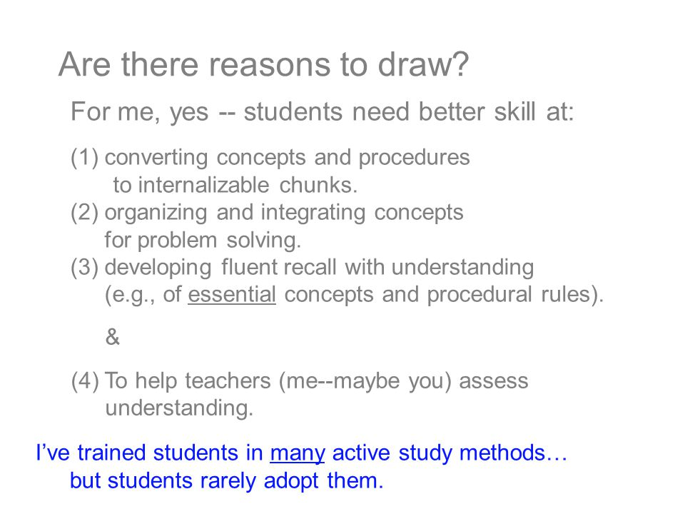 I've trained students in many active study methods… but students rarely adopt them.