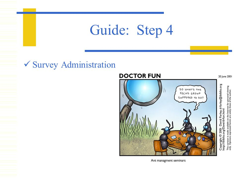 Guide: Step 4 Survey Administration