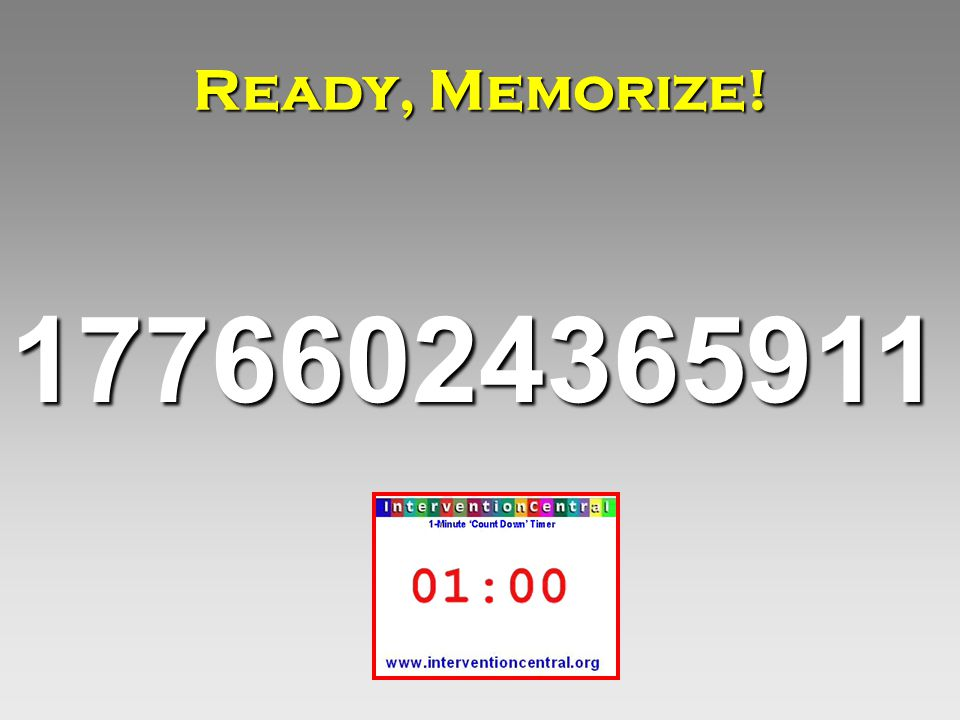 17766024365911 Ready, Memorize!