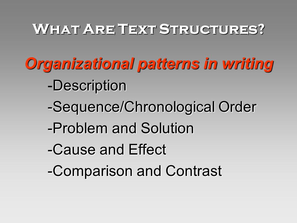 What Are Text Structures.