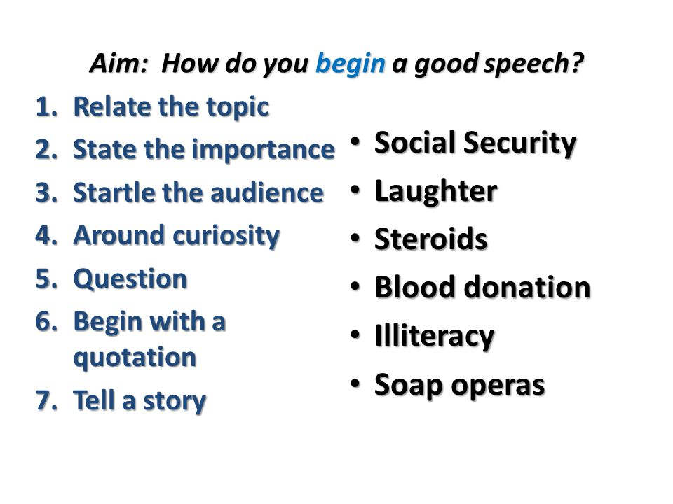 Persuasive Speech Essay Topics