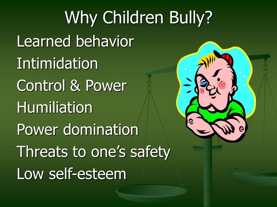 Why Children Bully.