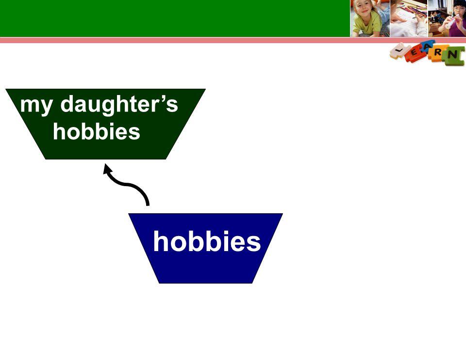 hobbies my daughter's hobbies