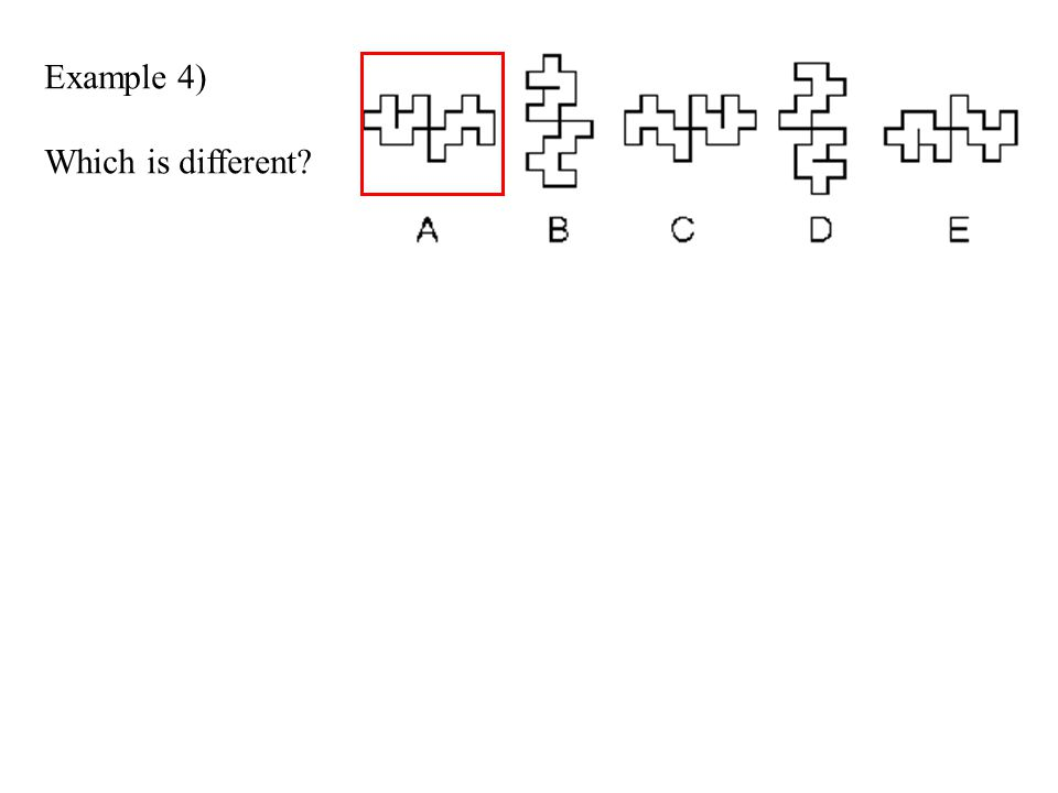 Example 4) Which is different