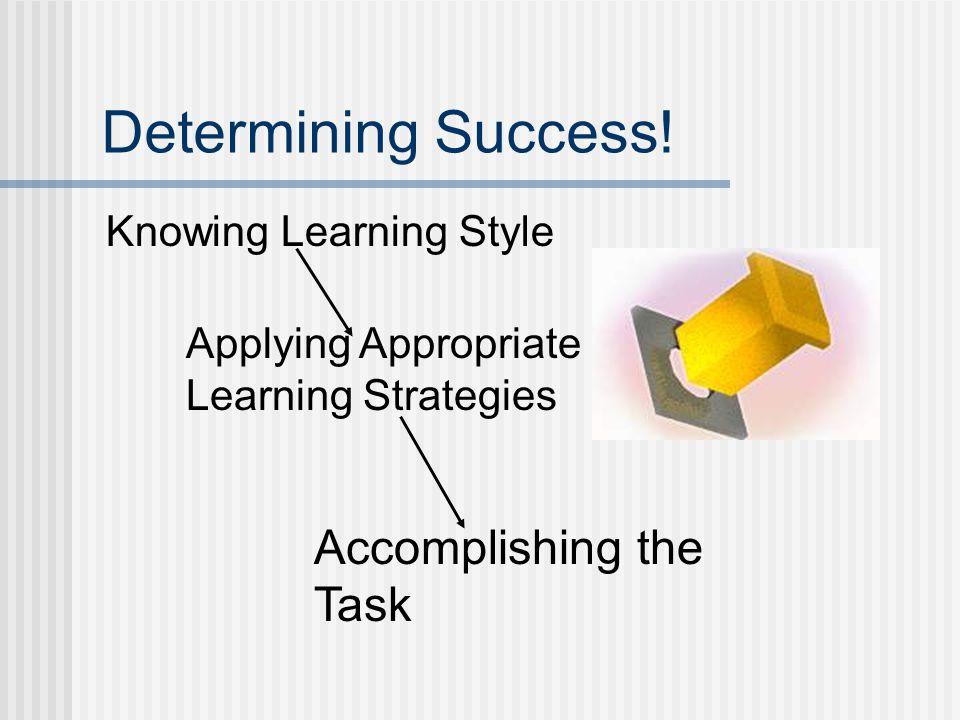 Determining Success.
