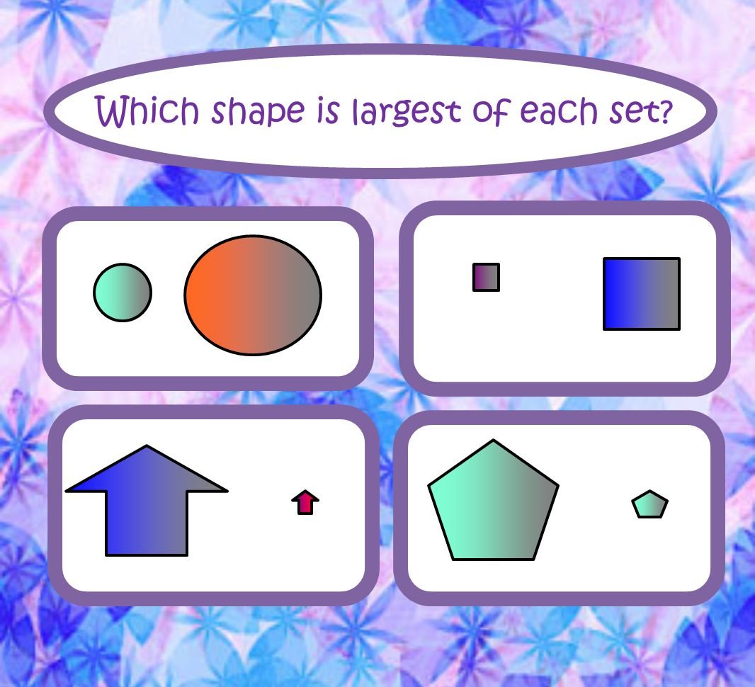 Which shape is largest of each set