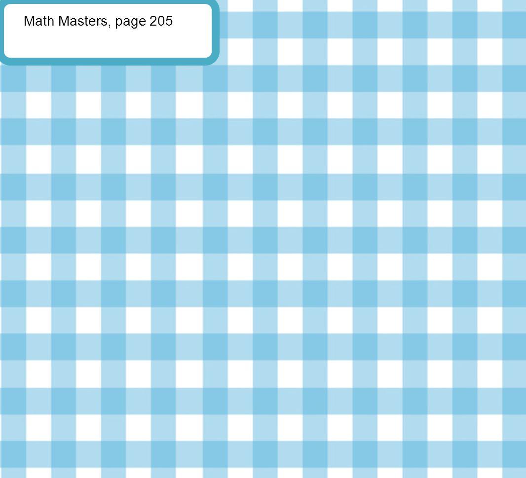 Math Masters, page 205