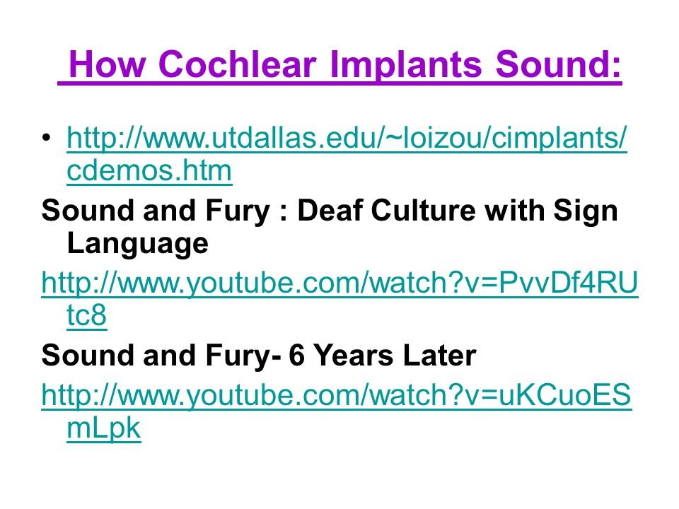 Lesson 9: How do deaf people hear/communicate? Sign Language, Facial Expression Lip Reading Cochlear Implant Hearing Aid