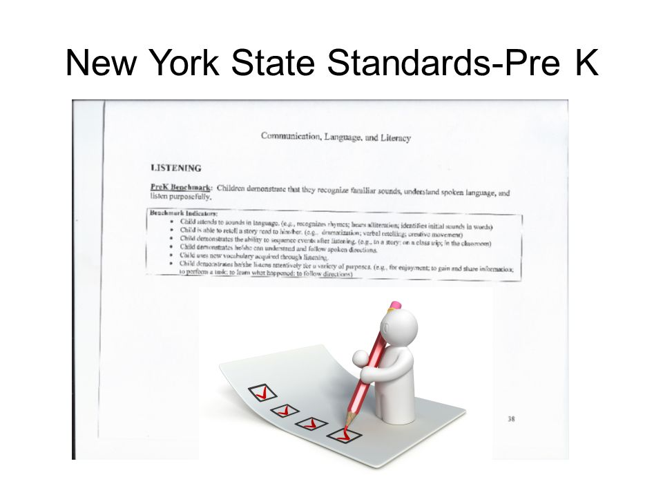 Common Core Standards- Pre K