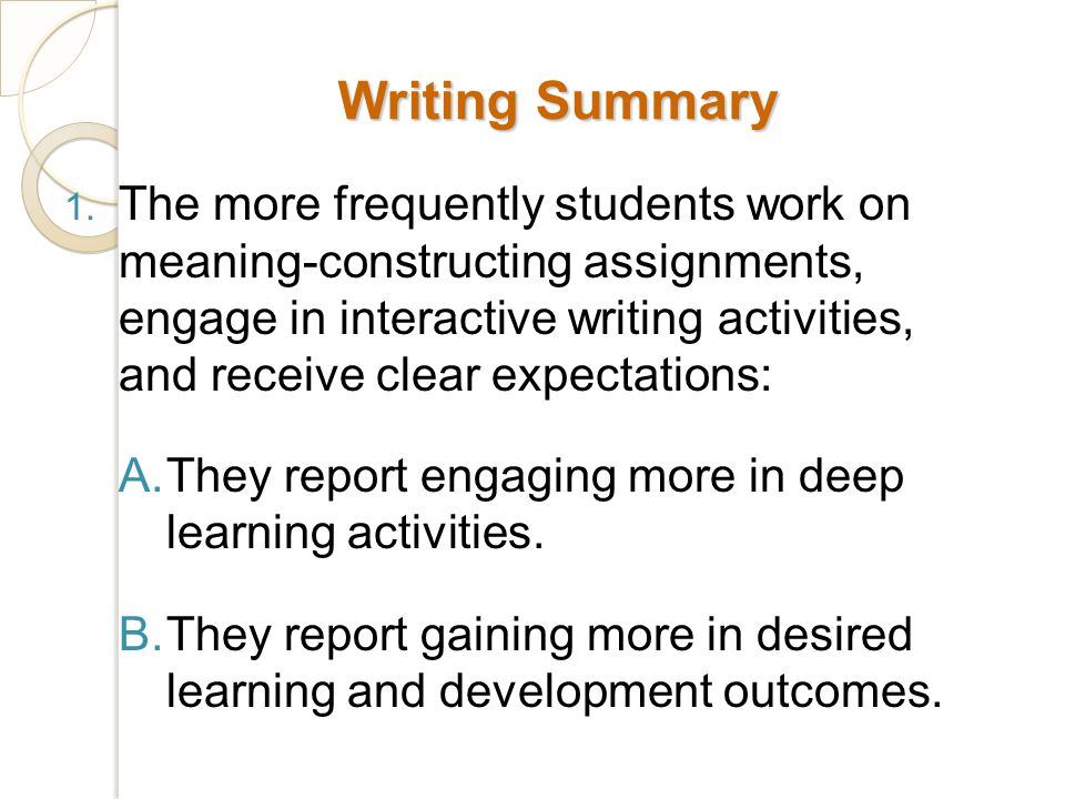Writing Summary 1.