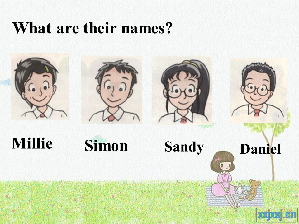 Millie Simon What are their names Sandy Daniel