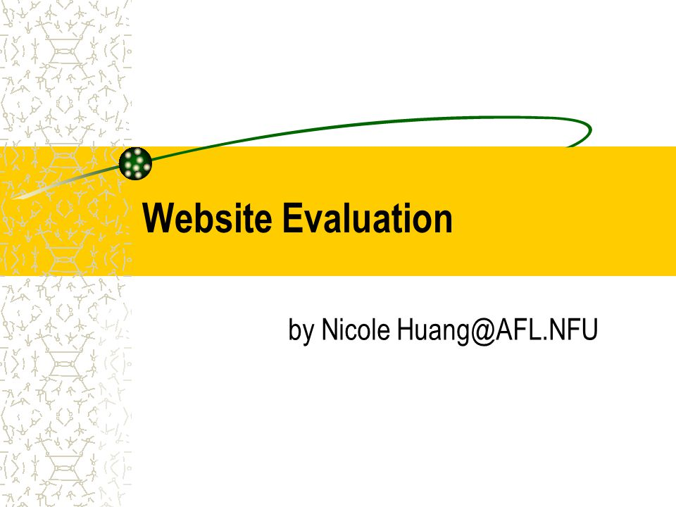 Website Evaluation by Nicole Huang@AFL.NFU