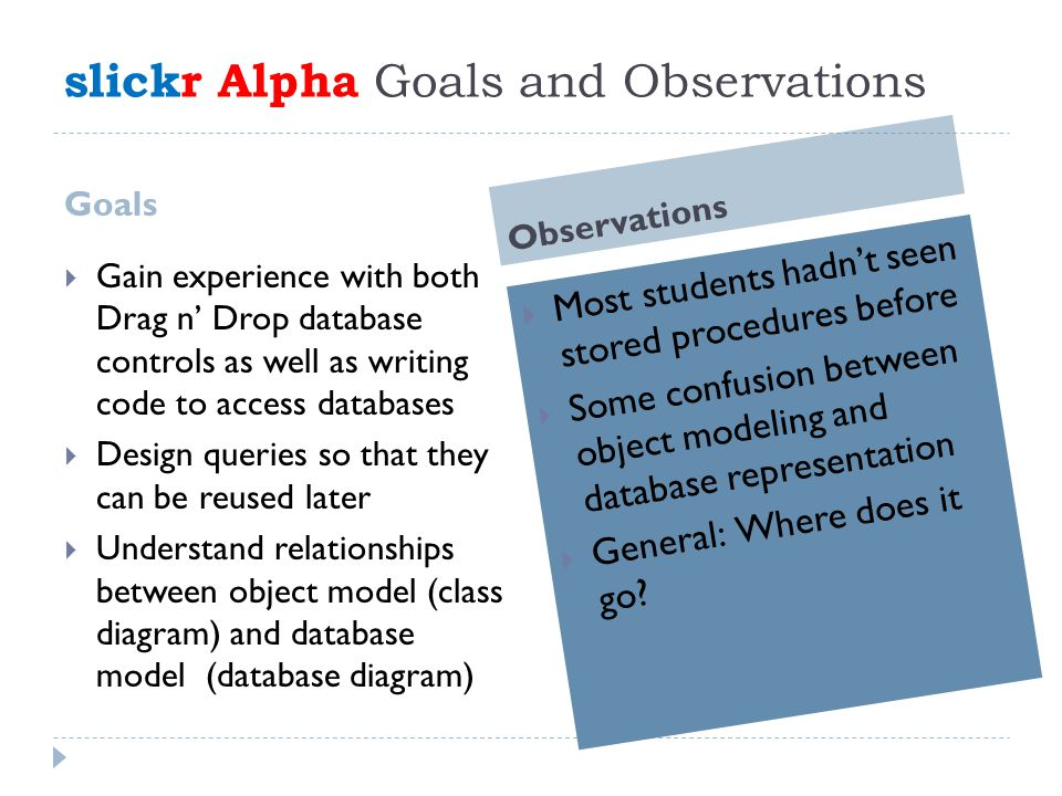slickr Web Services Enhancements  Create a web service with methods to expose photos  Rewrite search and display pages to invoke web methods  Search and display photos from a classmate's project by invoking the classmate's web service methods