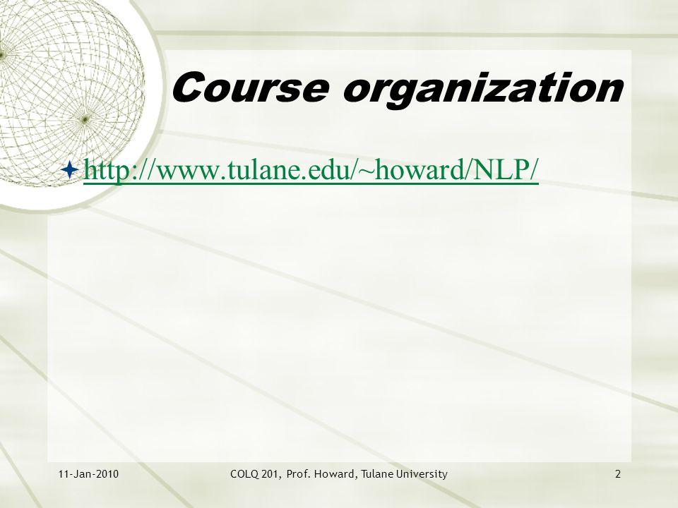 11-Jan-2010COLQ 201, Prof.