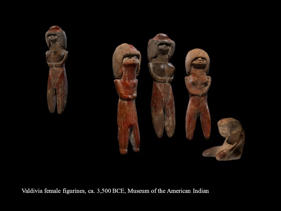 Valdivia female figurines, ca. 3,500 BCE, Museum of the American Indian
