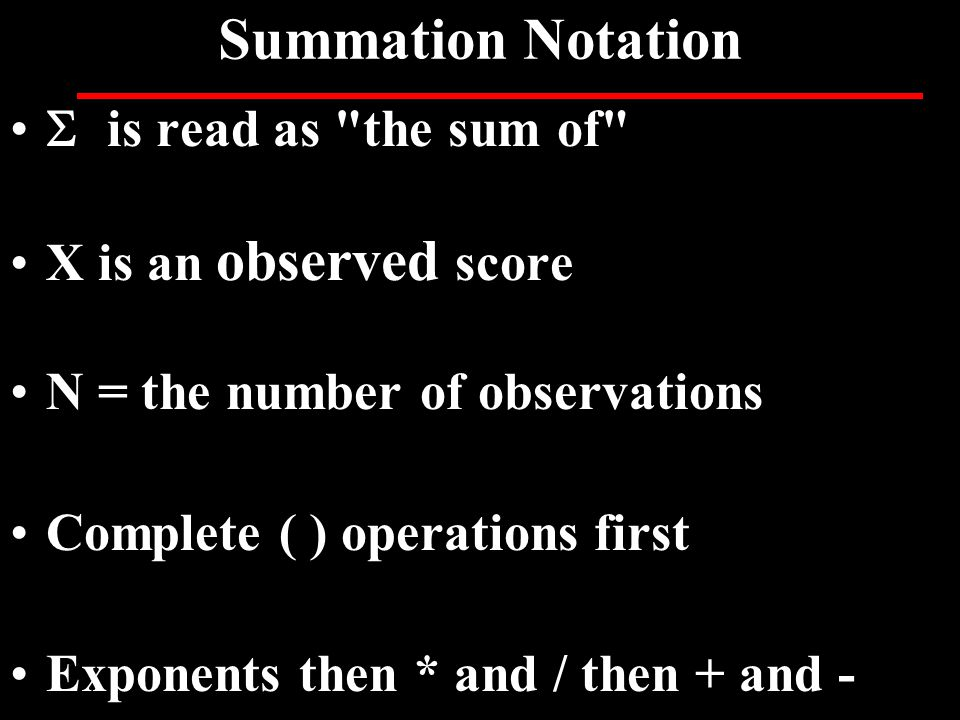 Summation Notation  is read as