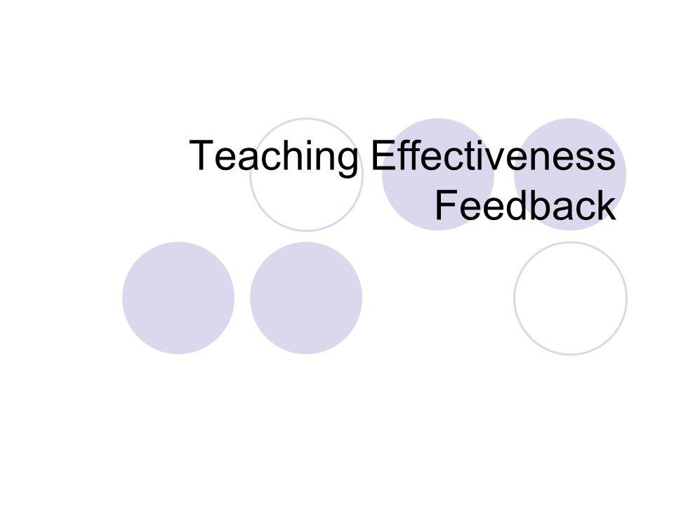 Teaching Effectiveness Feedback