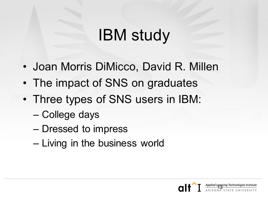13 IBM study Joan Morris DiMicco, David R.