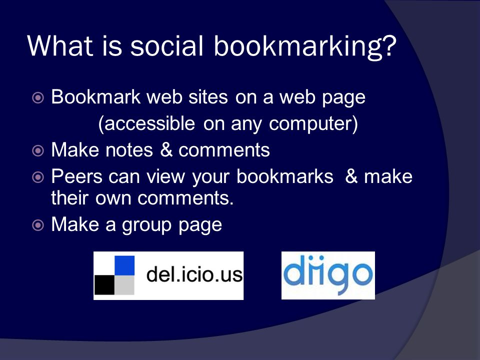 What is social bookmarking.