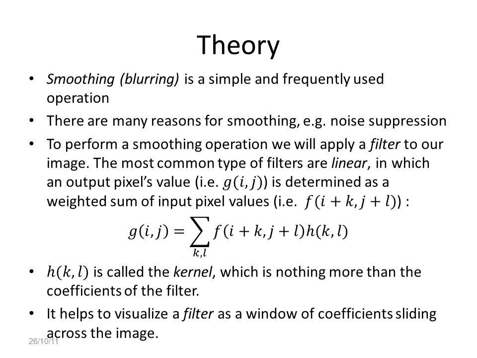 Theory 26/10/11