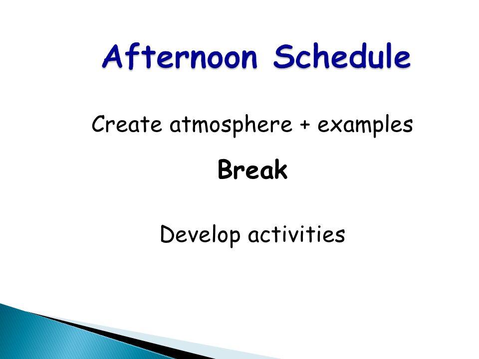 ACTFL Standards Concept of Culture Break Reflection & Action Lunch